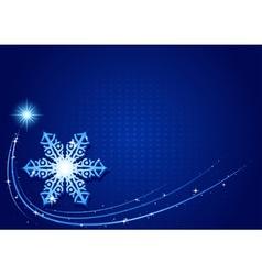 Blue Christmas Snowflake vector image