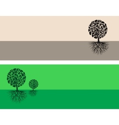 Brown and green nature vector image