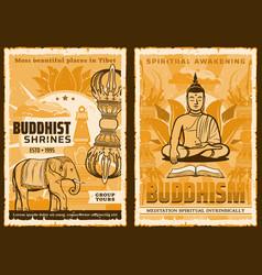 buddhism religion buddha yoga zen meditation vector image