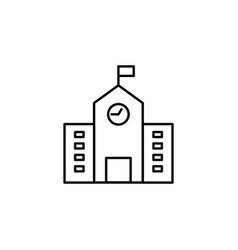 building school outline icon element of vector image
