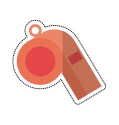 cartoon whistle sport equipment vector image