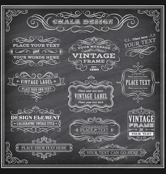 chalkboard labels and banners vector image