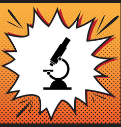 chemistry microscope sign for laboratory vector image