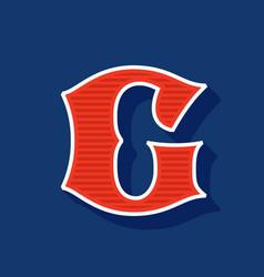 Classic style g letter sport logo vector