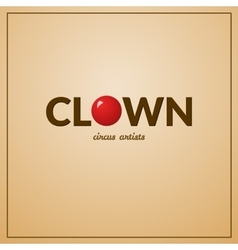 Clown logo vector image