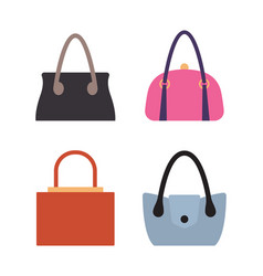 Collection of women bags accessories for females vector