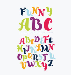 Colorful alphabet in vintage style vector
