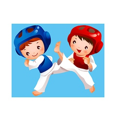 Competition between two boys vector