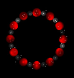 Concept contrast red black circles abstract vector