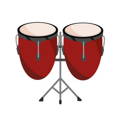 Congas drums percussion musical instrument vector