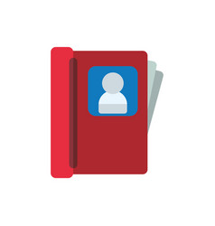 contacts book isolated vector image vector image