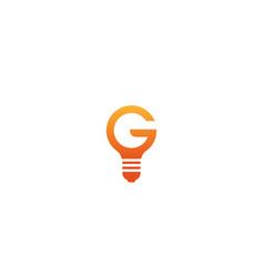 Creative g letter lamp logo design symbol vector