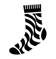 dirty sock icon simple style vector image