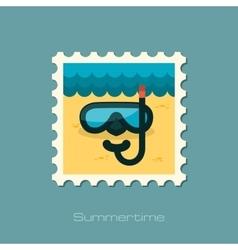 Diving Mask flat stamp vector image