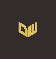 dw logo letter initial logo designs template vector image