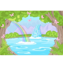 Fabulous Waterfall vector image