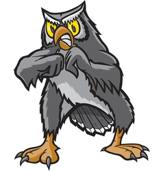 Fighting Owl vector