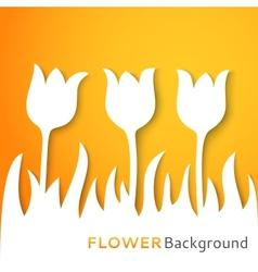 Flower applique background vector