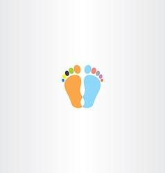 footprint icon design element vector image
