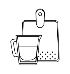 Glass and table kitchen tool isolated icon vector