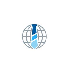 globe job logo icon design vector image