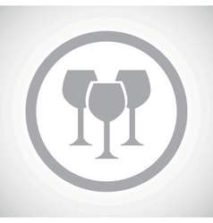 Grey wine glass sign icon vector