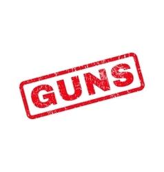 Guns Text Rubber Stamp vector