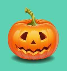halloween pumpkin face - funny smile jack o vector image