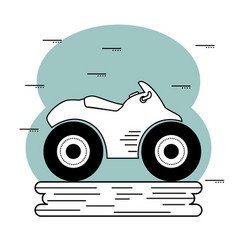 Hand-drawn motorcycle icon vector