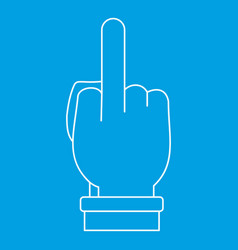 Hand gesture icon outline style vector