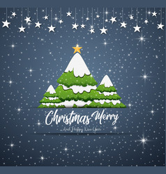 happy new year merry christmas 2019 with blue navy vector image