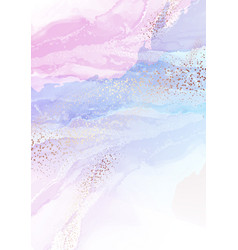 hologram tender pink violet ink watercolro swirls vector image