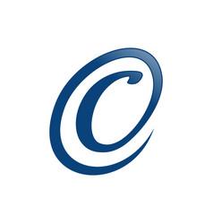 initial c circle blue lettermark symbol design vector image