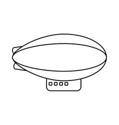 Isolated zeppelin vehicle design vector