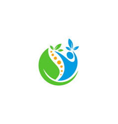 Leaf wellness logo icon design vector
