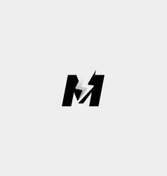 Letter m bolt logo design icon vector