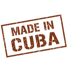 made in cuba stamp vector image