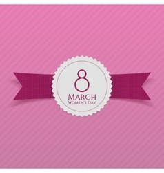 March 8 Womens Day realistic greeting Banner vector image