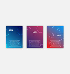 Minimal covers design cool gradients future vector