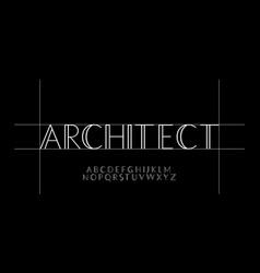 Minimalist architect font style design templates vector