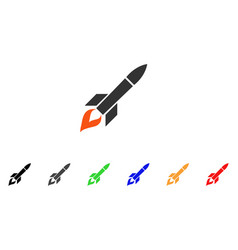 Missile flight icon vector