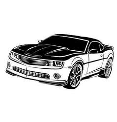 muscle american car vector image