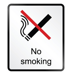 No Smoking Information Sign vector