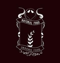 organic food Vintage frames and Floral Ornaments vector image