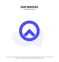 Our services shield security greece solid glyph vector