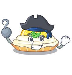 Pirate cartoon lemon cake with sugar powder vector