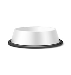 Realistic 3d matte white blank plastic or vector