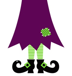 Retro Halloween witch legs isolated on white vector
