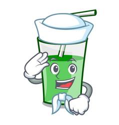 sailor green smoothie character cartoon vector image