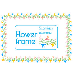 seamless element brush to create a floral photo vector image